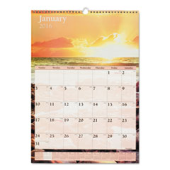 AT-A-GLANCE Scenic Monthly Wall Calendar, 12 x 17, 2016