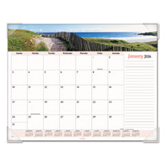 AT-A-GLANCE Seascape Panoramic Desk Pad, 22 x 17, 2016