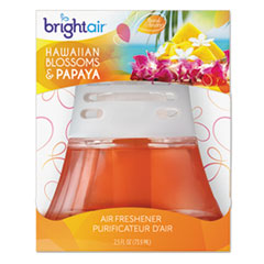 BRIGHT Air Scented Oil Air Freshener, Hawaiian Blossoms and Papaya, Orange, 2.5oz