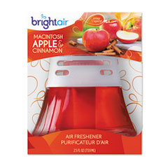 BRIGHT Air Scented Oil Air Freshener, Macintosh Apple and Cinnamon, Red, 2.5oz