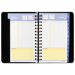 AT-A-GLANCE QuickNotes Daily/Monthly Appointment Book/Planner, 4 7/8 x 8, Black, 2016