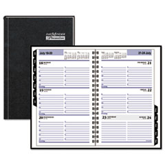 DayMinder Hardcover Weekly Appointment Book, 4 7/8 x 8, Black, 2016