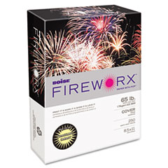 Boise FIREWORX Colored Cover Stock, 65 lbs., 8-1/2 x 11, Crackling Canary, 250 Sheets