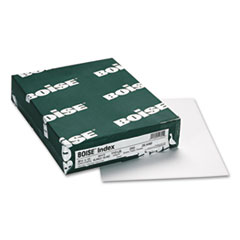 Boise FIREWORX Colored Cover Stock, 110 lbs., 8-1/2 x 11, White, 250 Sheets/Pack