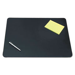Artistic Sagamore Desk Pad w/Decorative Stitching, 24 x 19, Black