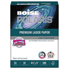 Boise POLARIS Premium Laser Paper, 97 Bright, 24lb, 8 1/2 x 11, White