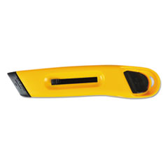 COSCO KNIFE RETRACT PLASTIC YL PLASTIC UTILITY KNIFE WITH RETRACTABLE BLADE AND SNAP CLOSURE, YELLOW