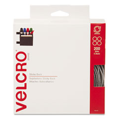 Velcro Sticky-Back Hook and Loop Dot Fasteners, Dispenser, 3/4 Inch, Beige, 200/Roll