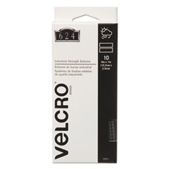 Velcro Extreme Indoor/Outdoor Hook and Loop Fasteners, 1 x 4 Strips, 10/Pack