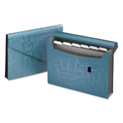 Pendaflex Essentials Expanding Poly Files, 7 Pockets, Poly, 1/6 Tab, Letter, Blue