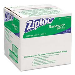 Ziploc Resealable Sandwich Bags, 1.2mL, 6 1/2 x 6, Clear, 500/Box
