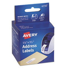 Avery Thermal Printer Labels, Address, 1 1/8 x 3 1/2, White, 260 Labels/Box