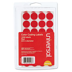 UNV 40103 Universal Self-Adhesive Removable Color-Coding Labels UNV40103