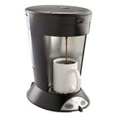BUNN My Cafe Pour-Over Commercial Grade Coffee/Tea Pod Brewer, Stainless Steel, Black