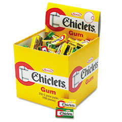Chiclets Chewing Gum, Peppermint or Spearmint, 2-Pieces/Pack, 200/Box