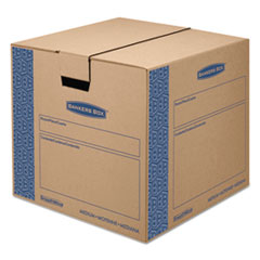 Bankers Box SmoothMove Prime Moving/Storage Boxes, 18 3/4l x 18 1/8w x 16 5/8h, Kraft, 8/CT