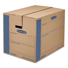 Bankers Box SmoothMove Prime Moving/Storage Boxes, 25l x 18 1/4w x 19h, Kraft, 6/Carton