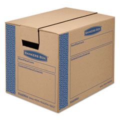 Bankers Box SmoothMove Prime Moving/Storage Boxes, 17 1/4l x 12 3/8w x 12 5/8h, Kraft, 10/CT