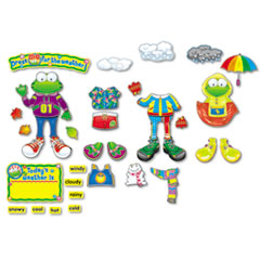Carson-Dellosa Publishing Weather Frog Bulletin Board Set, Weather Frog