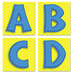 Carson-Dellosa Publishing Quick Stick Letters Set, 45 Pieces, Blue