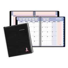 AT-A-GLANCE QuickNotes Special Edition Monthly Planner, 7 1/4 x 9 1/8, Black/Pink, 2016
