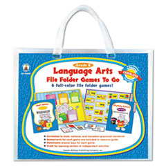 Carson-Dellosa Publishing File Folder Games-To-Go, Language Arts, Kindergarten
