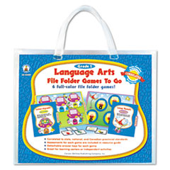 Carson-Dellosa Publishing File Folder Games-To-Go, Language Arts, First Grade
