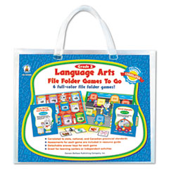 Carson-Dellosa Publishing File Folder Games-To-Go, Language Arts, Second Grade