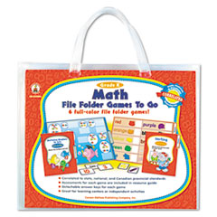 Carson-Dellosa Publishing File Folder Games-To-Go, Mat, Kindergarten