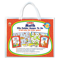 Carson-Dellosa Publishing File Folder Games-To-Go, Mat, Second Grade