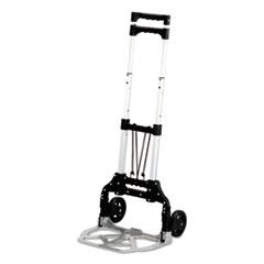 Safco Stow & Go Cart, 110lb Capacity, 15 1/4w x 16d x 39h, Aluminum