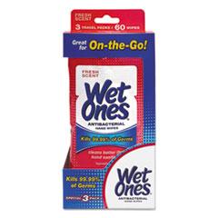 PLX 00602 Wet Ones Antibacterial Moist Towelettes Travel Pack PLX00602