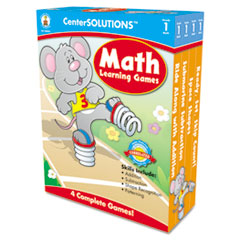 Carson-Dellosa Publishing Math Learning Games, Four Game Boards, 2-4 Players, Grade 1