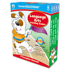Carson-Dellosa Publishing Language Arts Learning Games, Four Game Boards, 2-4 players, Kindergarten
