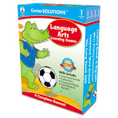 Carson-Dellosa Publishing Language Arts Learning Games, Four Game Boards, 2-4 players, Grade 1
