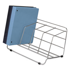 Fellowes Four-Section Wire Catalog Rack, Metal, 16 1/2 x 10 x 8, Silver