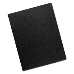 Fellowes Linen Texture Binding System Covers, 11-1/4 x 8-3/4, Black, 200/Pack