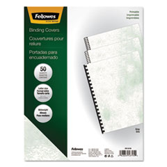 Fellowes Copylux Printable Binding System Covers, 11 x 8-1/2, Gray, 50/Pack