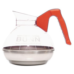 BUNN 64 oz. Easy Pour Decanter, Orange Handle