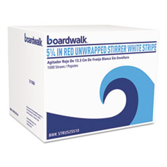 BWK STRU525S10PK Boardwalk Unwrapped Single-Tube Stir-Straws BWKSTRU525S10PK