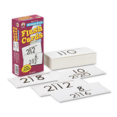 Carson-Dellosa Publishing Flash Cards, Division Facts 0-12, 3w x 6h, 93/Pack