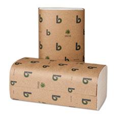 Boardwalk Green Single-Fold Towels, Natural White, 9x10, 250/Pack, 16 Pks/Carton