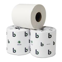 Boardwalk Green Plus Bathroom Tissue, 2-Ply, White, 500 Sheets, 80 Rolls/Carton
