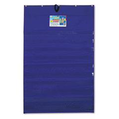 Carson-Dellosa Publishing Original �Plus� 10-Pocket Chart with Five Clear Sentence Strips, Blue, 34 x 52