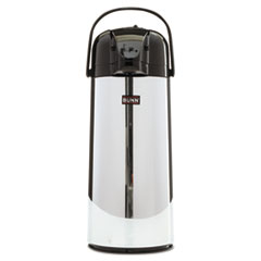 BUNN 2.2 Liter Push Button Airpot, Stainless Steel