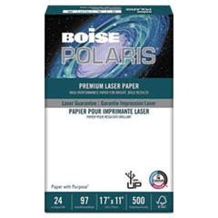 Boise POLARIS Premium Laser Paper, 96 Bright, 24lb, 11 x 17, White, 500 Sheets