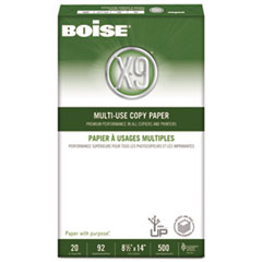 Boise X-9 Multi-Use Copy Paper, 92 Bright, 20lb, 8-1/2 x 14, White, 5000 Sheets/Carton