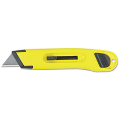 Stanley® KNIFE RETRACT PLASTIC YL Plastic Light-Duty Utility Knife W-retractable Blade, Yellow