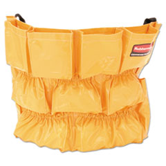 Rubbermaid Commercial Brute Caddy Bag, 12 Pockets, Yellow