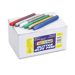 Chenille Kraft Glitter Glue Pens, Assorted, 10 cc Tube, 72/Pack